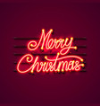 neon merry christmas signboard vector image