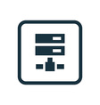 net drive icon Rounded squares button vector image vector image