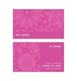 pink abstract flowers texture horizontal stripe vector image vector image