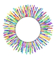 rainbow fireworks background vector image