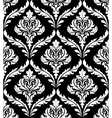 seamless arabesque design in black and white vector image vector image