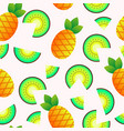 seamless pattern with summer fruits vector image vector image
