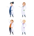 set scientist women vector image
