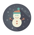 Snowman flat icon vector image vector image