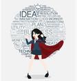 superhero cartoon for business concept vector image vector image