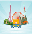 travel planning flat concept vector image