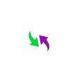 Two side arrow Icon vector image