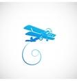 Vintage Plane Symbolo Icon or Logo Template vector image vector image