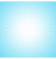 White sun with long thin rays vector image vector image