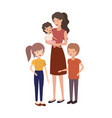 woman with children avatar character vector image vector image
