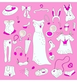 Women related fashion items vector image vector image
