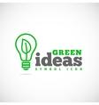 Green Ideas Concept Symbol Icon or Logo Template vector image