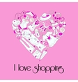 heart from stylish hand drawn women items vector image