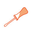 screwdriver tool object vector image