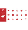 15 game icons vector image vector image