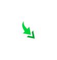 2 side arrow Icon vector image