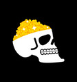 bitcoin is treasure skull and cryptocurrency vector image vector image