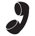 black handset icon vector image