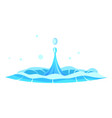 blue crystal aqua and jet oozes from center vector image vector image