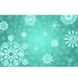 Blue winter background with crystallic snowflakes vector image vector image