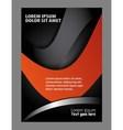 brochure folder leaflet vector image vector image