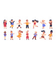 cartoon children cute multicultural boys and vector image vector image