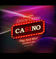 casino banner design vector image