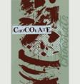 chocolate retro vintage poster design vector image vector image