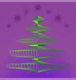christmas tree on background of night sky vector image vector image