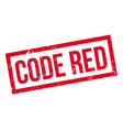 Code Red rubber stamp vector image