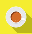 coffe flat icon vector image