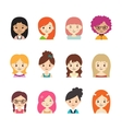 collection different avatars with women vector image