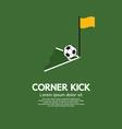Corner Kick vector image vector image