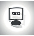 Curved SEO monitor icon vector image vector image