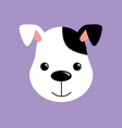 cute dog white and black puppy vector image vector image