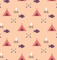 Cute seamless pattern camping vector image