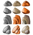 different shapes of stone vector image