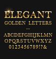 elegant golden letters shiny gold alphabet vector image vector image