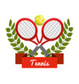 emblem tennis play icon vector image vector image