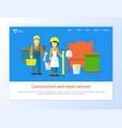 engineer with tool repair service online vector image