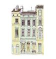 european retro house facade isolated on white vector image