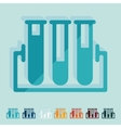 Flat design tube vector image vector image