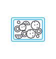 fruit pie linear icon concept fruit pie line vector image