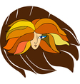 Girl Face Sign vector image vector image