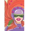girl motorcyclist with big lips in a beautiful hel vector image vector image