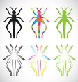 Grasshoppers vector image