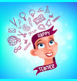 greeting card or poster to happy teachers day vector image vector image