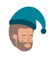 head of man sleeping avatar character vector image