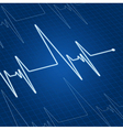 heart pulse vector image vector image