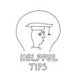 helpful tips freehand drawn man with doodle style vector image vector image